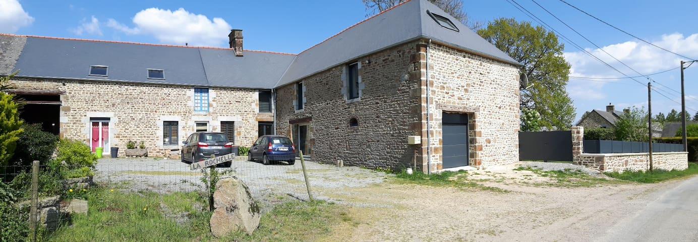 Longère en campagne procheA84 et Mont Saint Michel - La Selle-en-Coglès - Huis