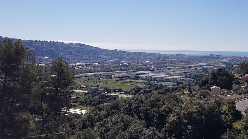Vue panoramique  sur mer