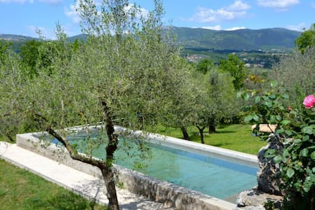 La Casetta  Aia Le Monache - garden, swimming pool - Aia Le Monache - Appartement