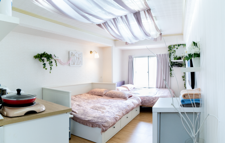 White lover-Triple room(1 double bed&1 sofa bed)