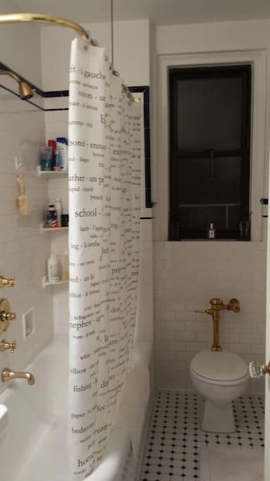 fully renovated bathroom