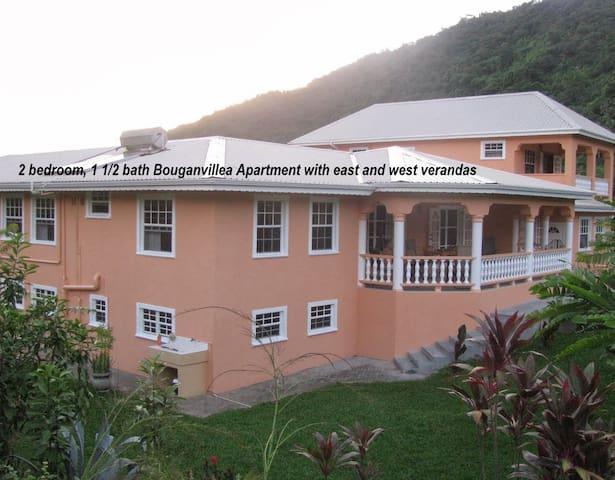 eastern exposure of Bougainvillea apartment