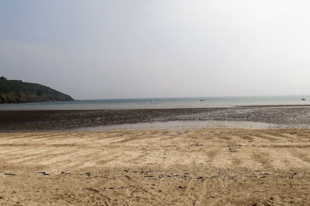plage marrée basse
