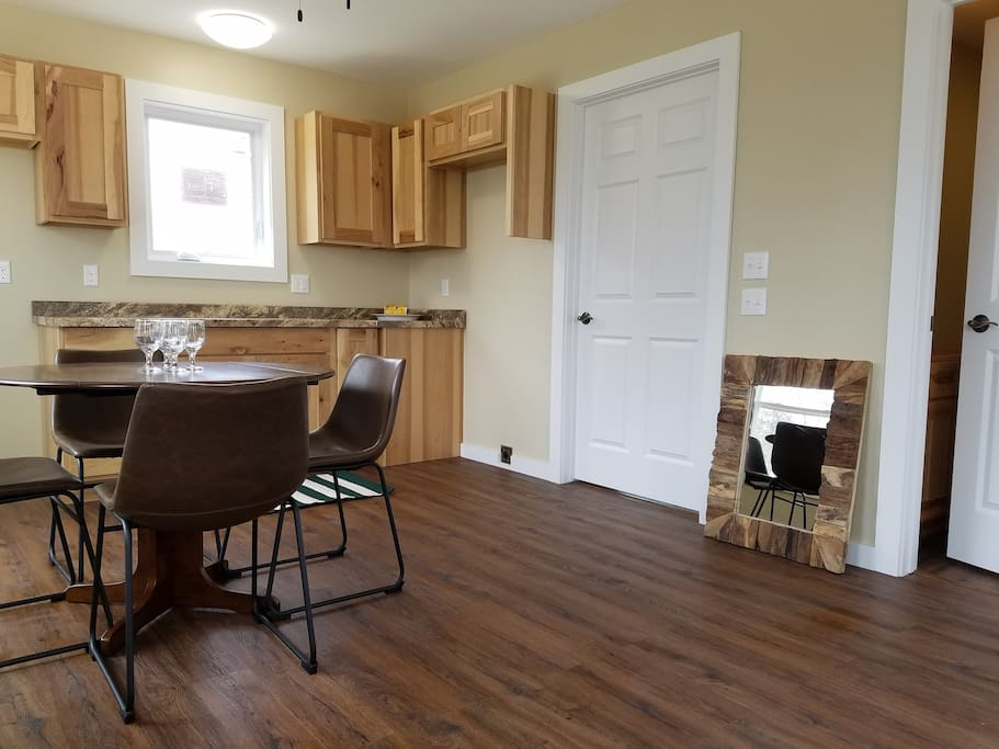 Kitchen and Dining Area...appliances on their way! More accessories coming!