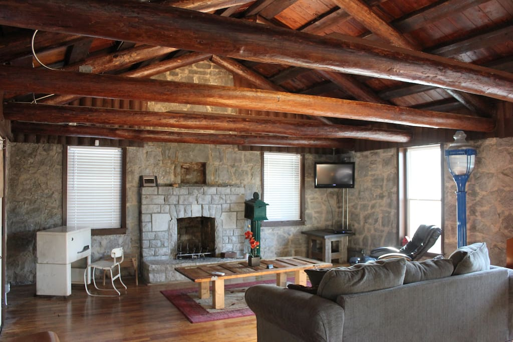 Original 100+ year old timbers and hard wood flooring.  The Fireplace is amazingly romantic.