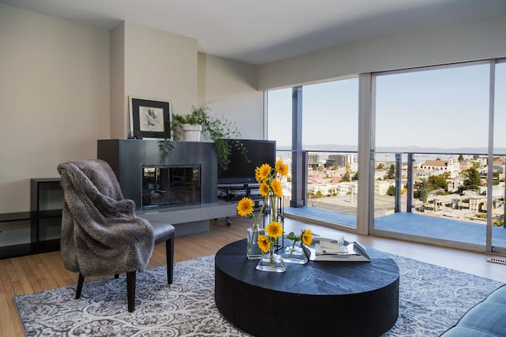 Potrero Hill Mid-Century Modern, 1 BR with Views.