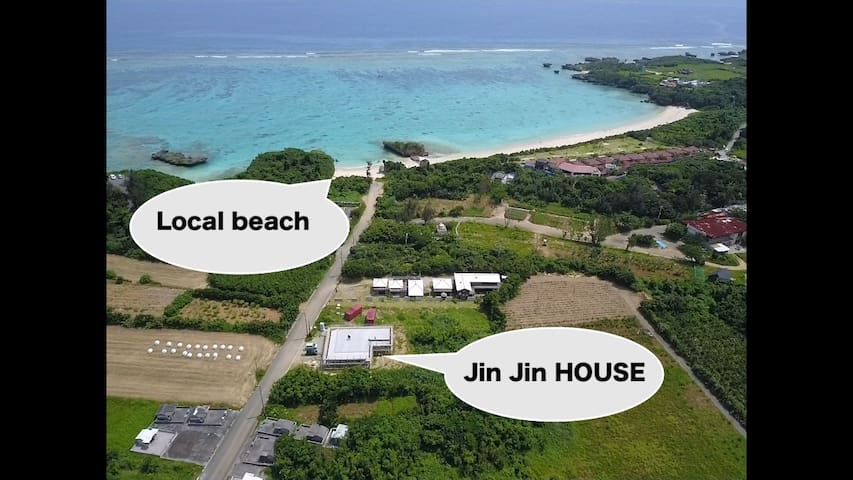 【SAKURA】海まで30秒!BBQ可能な新築琉球1軒屋。 美ら海水族館15分、古宇利島15分。
