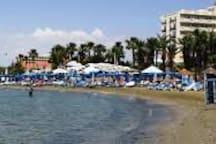 Hotel's beach, open to the public