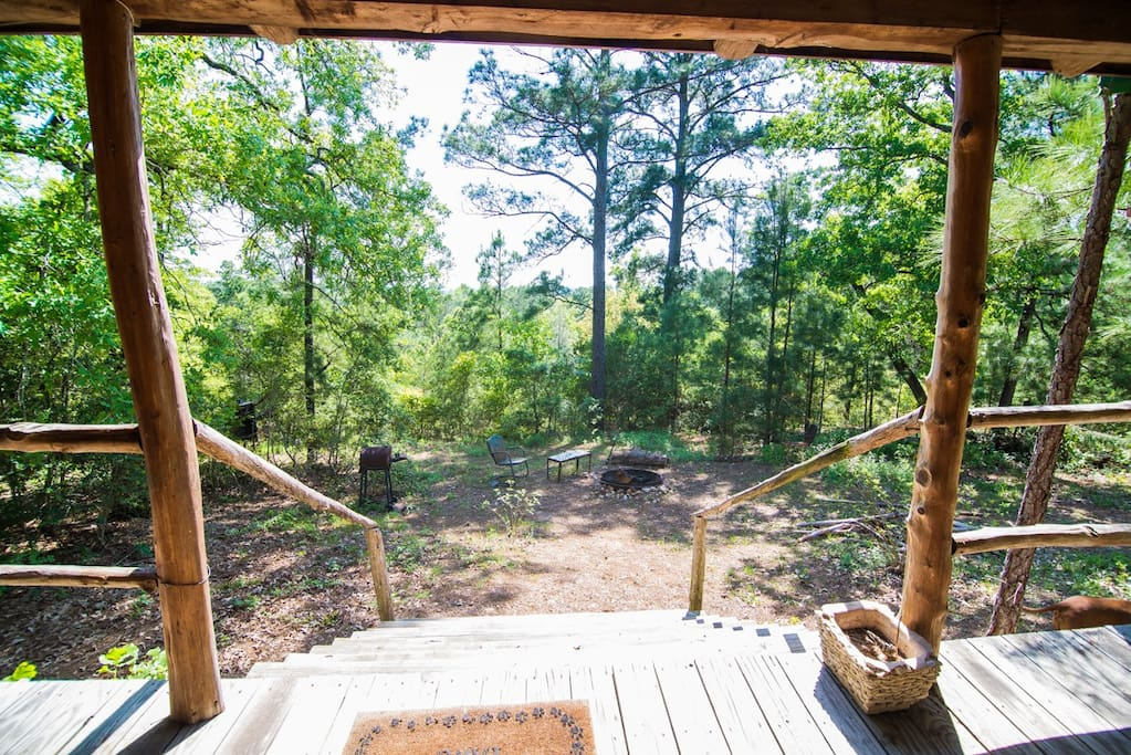 The view and the pines will lure you outside