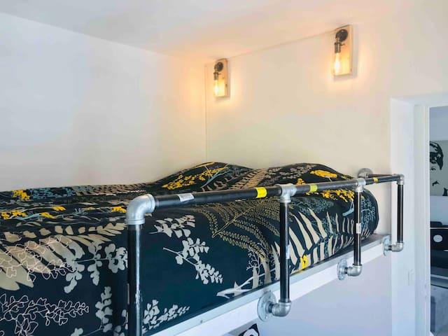 Second bedroom mezzanine with double bed