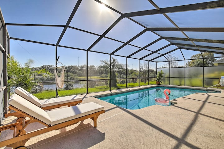 NEW! Bright & Sunny Riverview Oasis w/ Pool & Pond