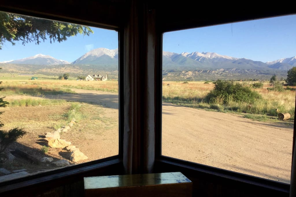 Your view of the Sawatch Range from inside!