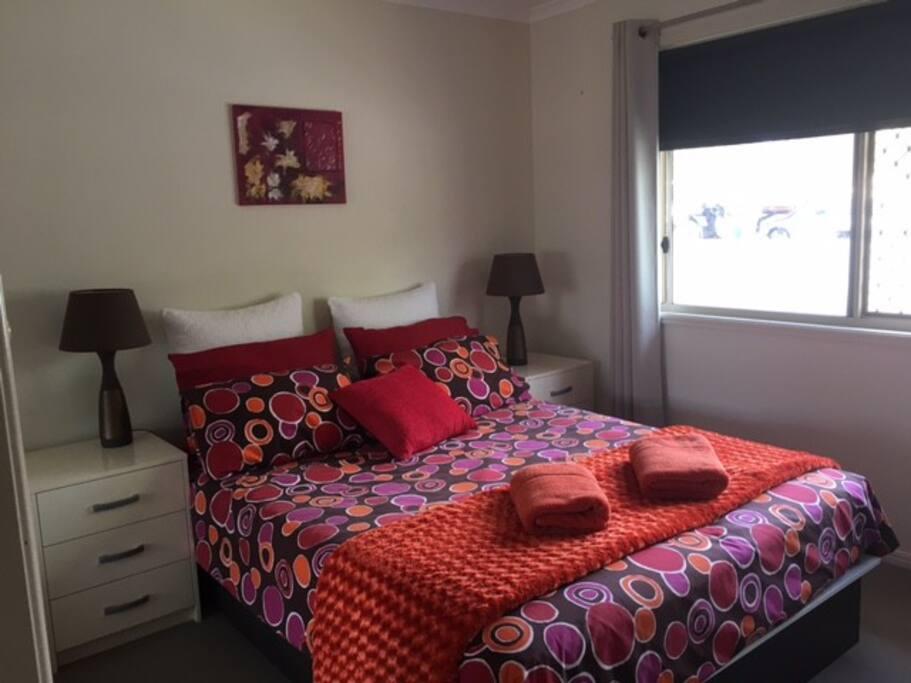 3rd Bedroom with Queen Bed & TV