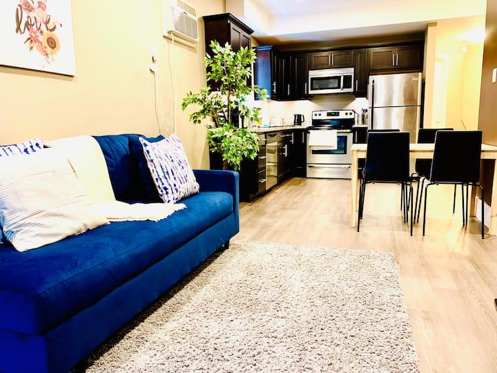1 BDR | Modern, Blue & Cozy | 8 | Osborne Village