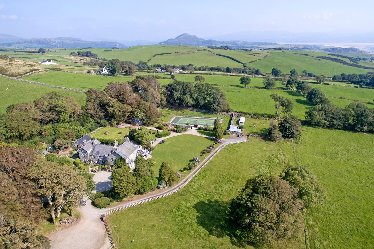Set in the heart of the countryside with sea views