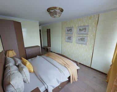 Комната в загородном гостевом доме в лесу