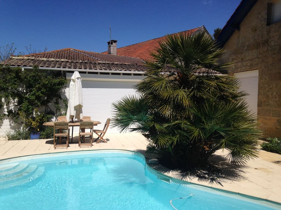 Terrasse et piscine sans vis-à-vis
