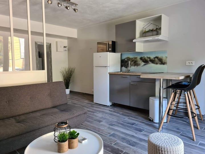 Studio cosy et climatisé avec son jardin privatif
