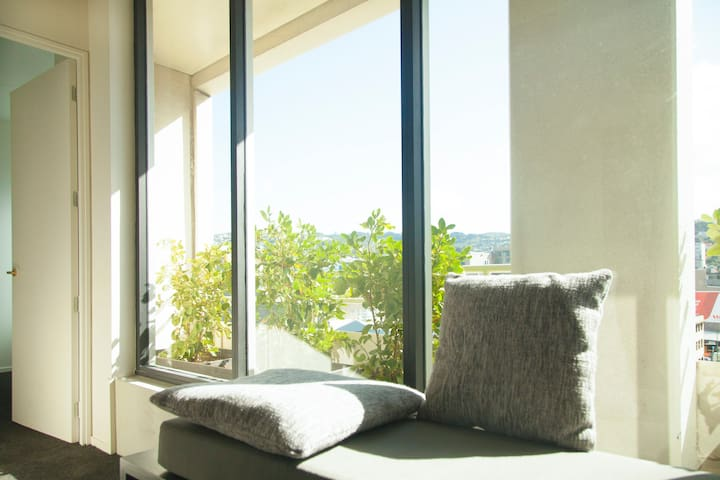 Window seat to enjoy afternoon sun