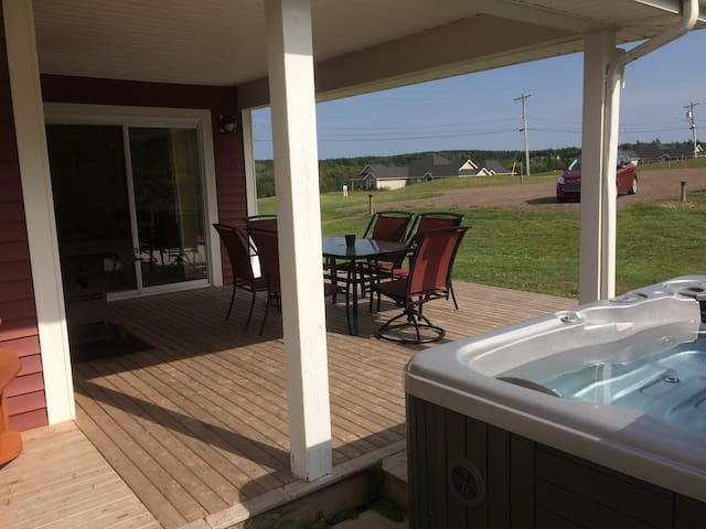 Hot Tub, guest private use. Open mid-May to end of September.
