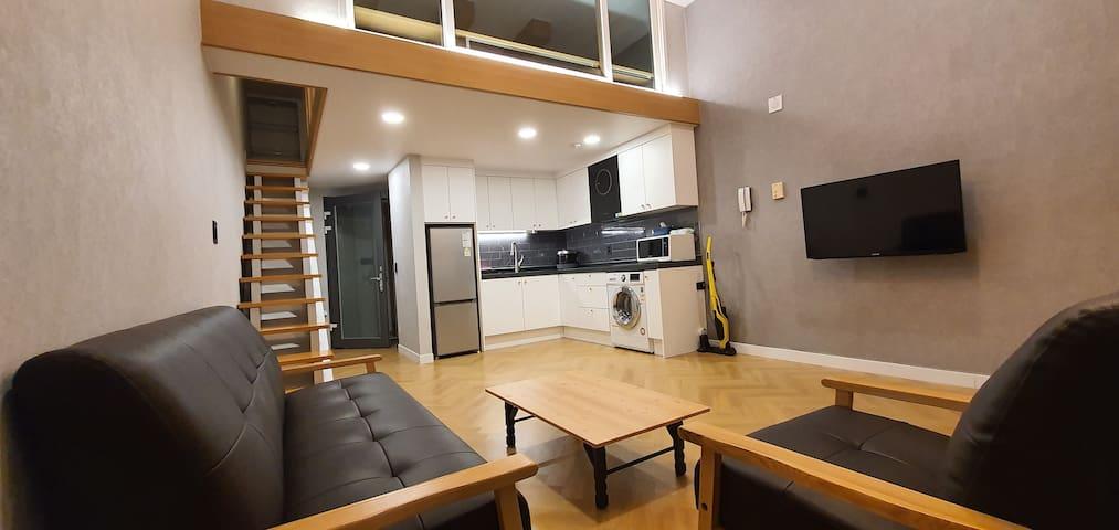 휘닉스파크 인근 리모델링된 깨끗한 복층형 숙소  [애견동반전용]