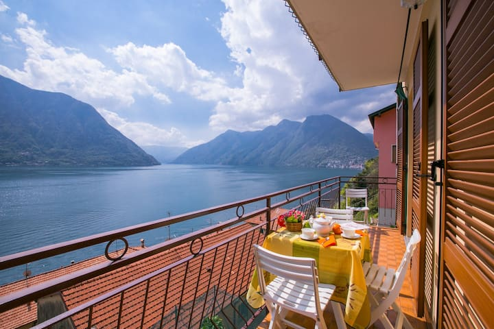 Private balcony with a view
