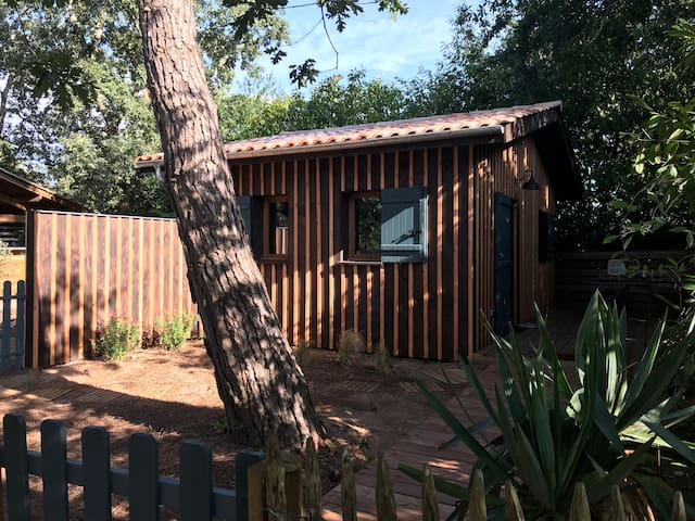 Cabane en bois typique du bassin