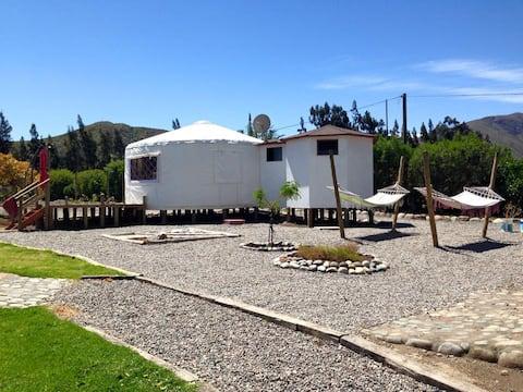 Cabaña-Yurta en zona turística Valle de Elqui