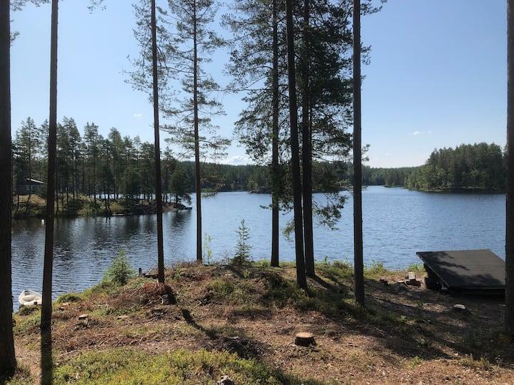 Silent lakeside cottage 1Hr from TMP Huvikumpu