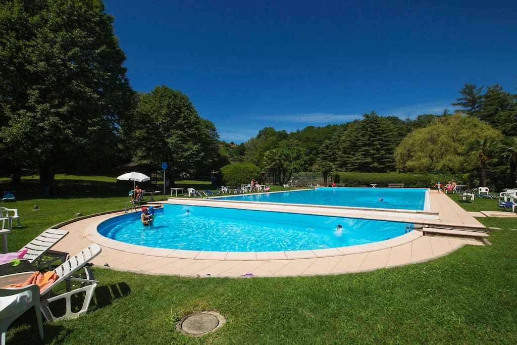 swimming pool with small swimming pool for children