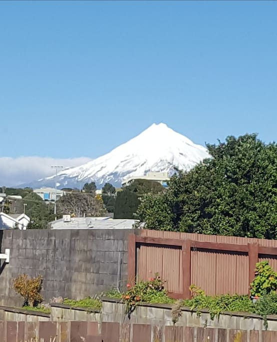 Stunning Mt.Taranaki from kitchen window