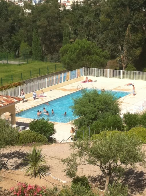 Residents' pool in full sun....open from morning til evening from May to October