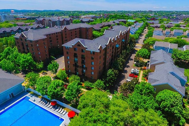 Aerial view of the apartment complex (photo from the internet).