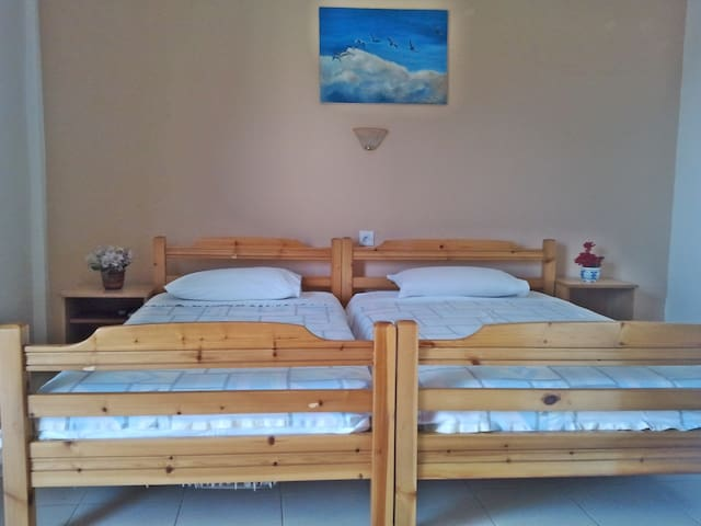 Διαμέρισμα με θέα την θάλασσα,δροσερό,άνετο,ευήλιο - Platamon - Daire