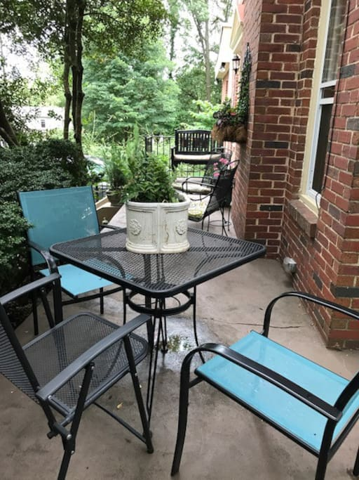 Terrace with dining