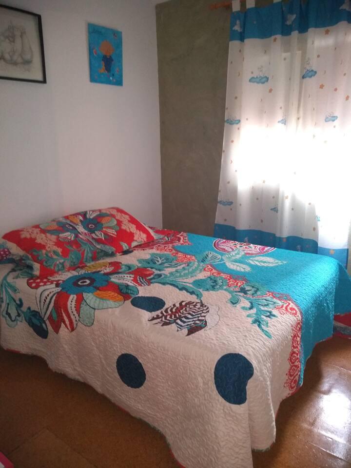 Habitación cama matrimonio para 1 o 2 personas