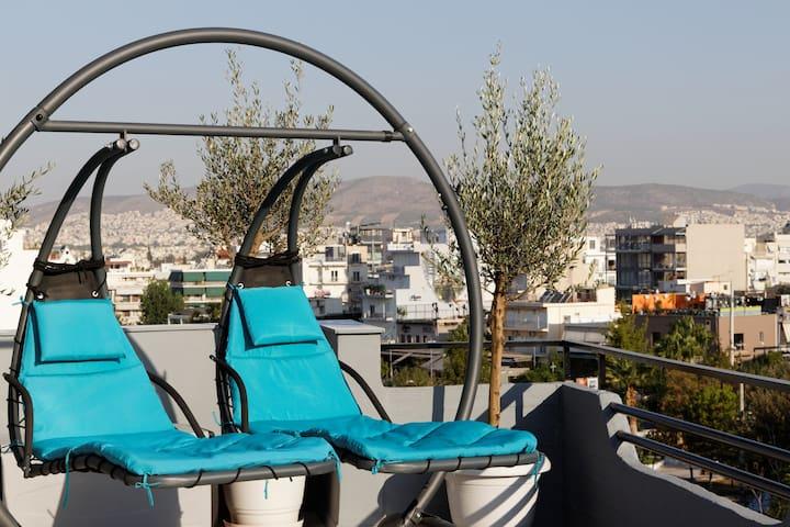 Designer loft in heart of Athens nightlife