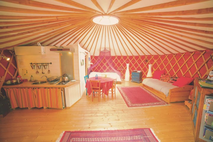Yurt Altair with garden view