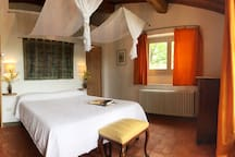 Queen bedroom with en-suite bathroom with shower. On request the queen bed can be separated in 2 single beds