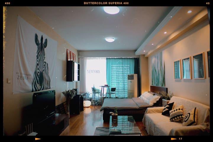 【晓住】KOOL STAY 双井/国贸/治愈系小窝 /帝都闹市区CBD商圈INS风现代公寓
