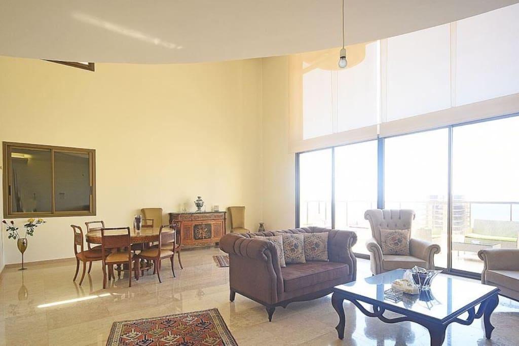 Salon with terrace