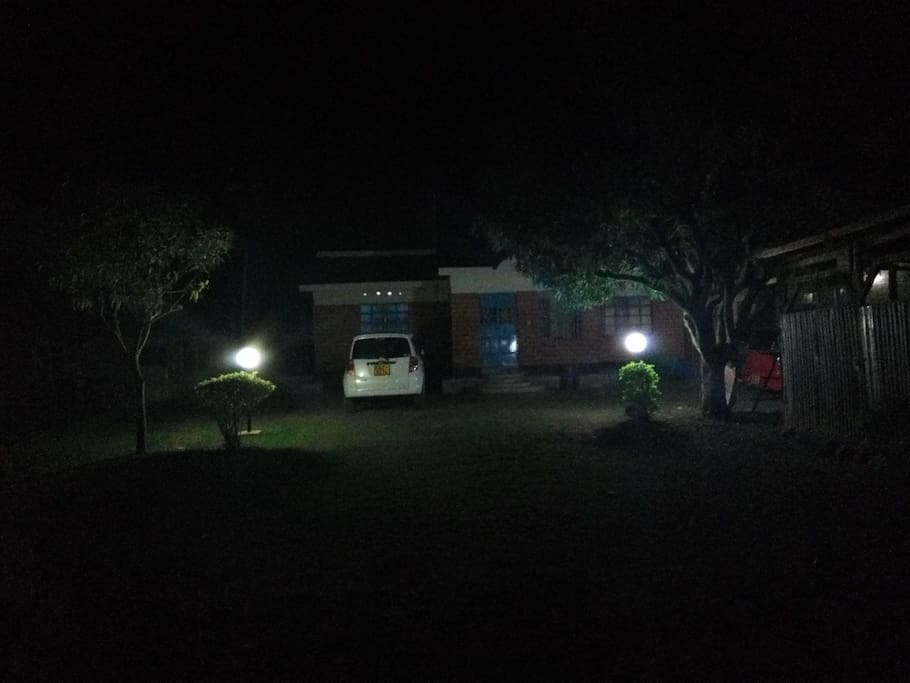 Compound at night