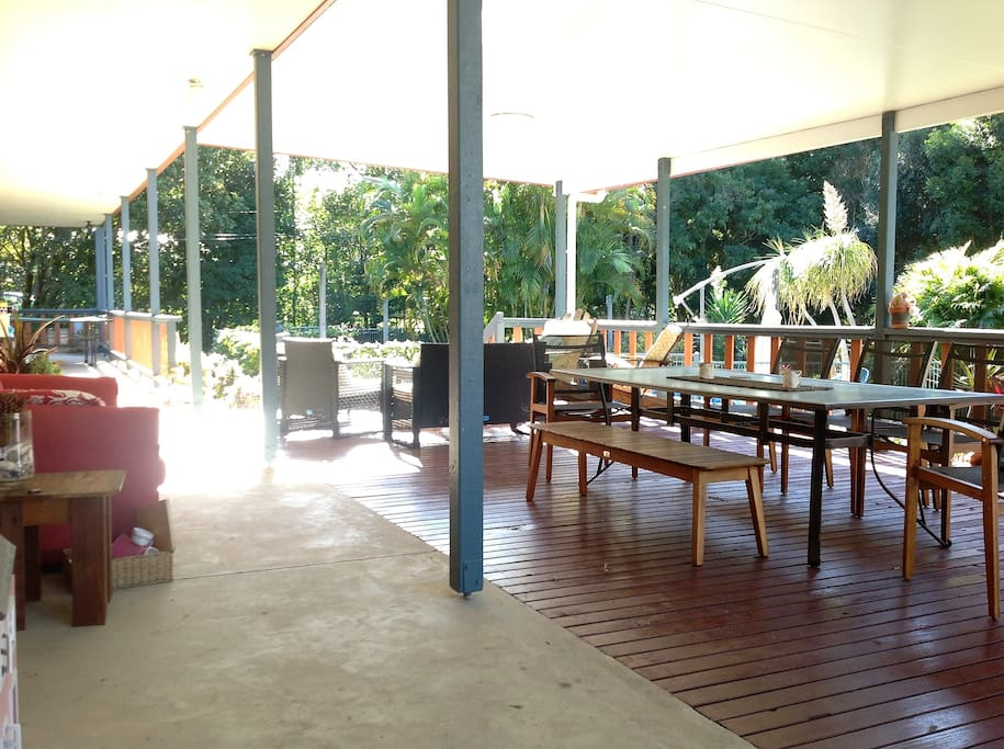 Large verandah at front of house