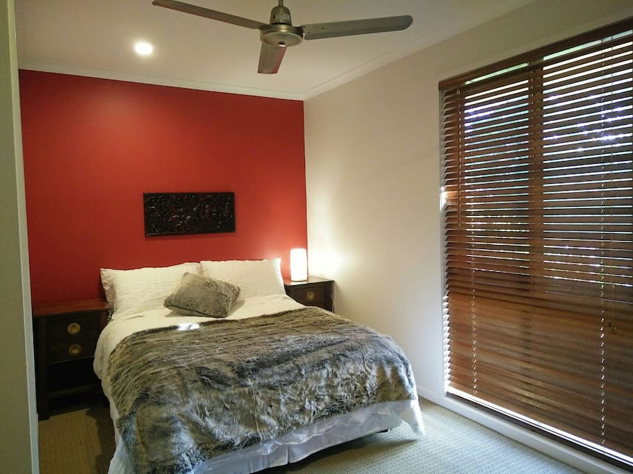 Master room features comfortable double size bed