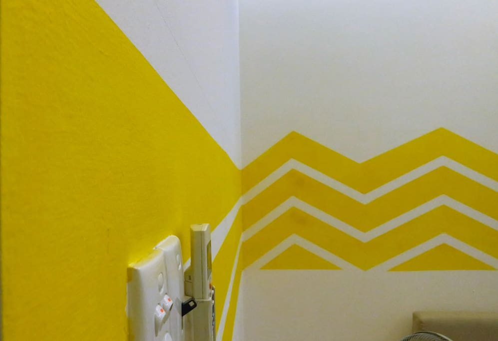 I was gonna paint the room with yellow stripes, all of a sudden I ran out of yellow paint. End of story.