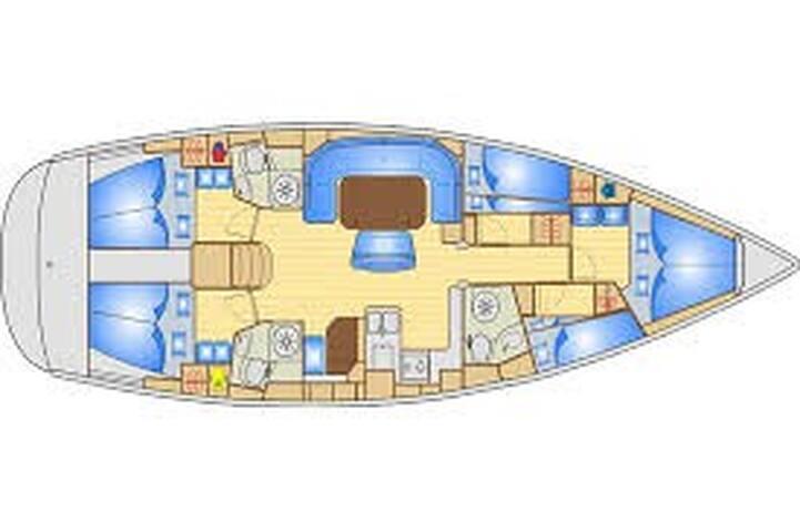 Barca a Vela Bavaria 50 tra le Luci d'Artista
