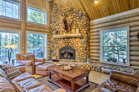 Secluded Log Cabin with Game Room & Forest Views!