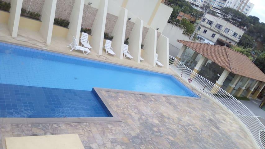 Apartamento residencial, piscina, garagem portaria