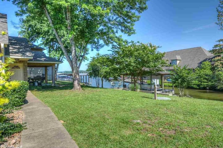 Enjoy the peace and quiet on the waterfront deck.