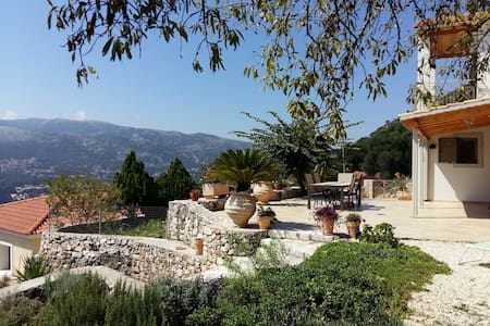 House on a mountain side with panoramic views. - Agia Effimia